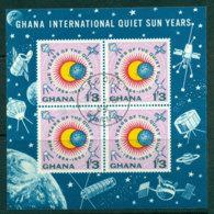 Ghana 1964 Quiet Sun Year MS FU Lot27609 - Ghana (1957-...)