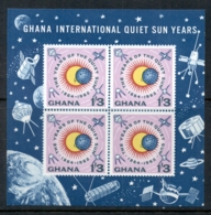 Ghana 1964 Quite Sun Year MS MUH - Ghana (1957-...)