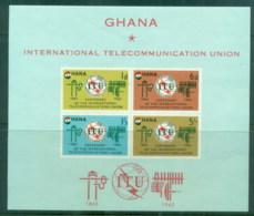 Ghana 1965 ITU Centenary MS MUH - Ghana (1957-...)