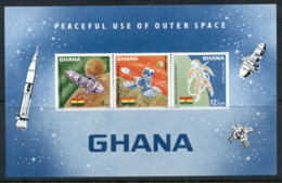 Ghana 1967 Peaceful Use Of Outer Space MS MUH - Ghana (1957-...)
