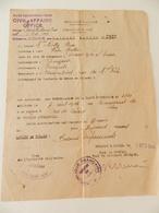 Militaria  - Lille (59) - 1944 - Laissez-Passer - Cachet : Civil Affairs Office - Armentières - Documents