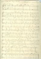 """Marche Des Aquatiques Partition Manuscrite De Willy Devos 1905 Autographe Signée Dédicacée """"à Mon Ami Edgard Biart"""" - Otros"""