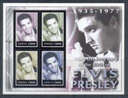 Ghana 2005 Elvis Presley 70th Birthday MS MUH - Ghana (1957-...)