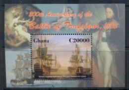 Ghana 2006 Battle Of Trafalgar, Nelson, Ships MS MUH - Ghana (1957-...)