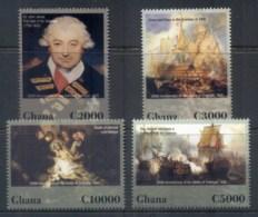 Ghana 2006 Battle Of Trafalgar, Nelson, Ships MUH - Ghana (1957-...)