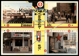 ÄLTERE POSTKARTE BERLIN ZIMMERSTRASSE FRIEDRICHSTRASSE BERLINER MAUER LE MUR THE WALL Ansichtskarte AK Cpa Postcard - Berliner Mauer