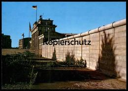 ÄLTERE POSTKARTE BERLIN BRANDENBURGER TOR UND BERLINER MAUER LE MUR THE WALL Ansichtskarte AK Postcard Cpa - Berliner Mauer