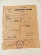 Militaria  - Armentières (59) - 1945 - Laissez-Passer Temporaire - - Documents