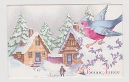 Migonnette  Bonne Année  Paysage ,oiseau - Anno Nuovo