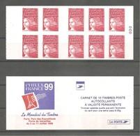 CARNET De Guichet 1998 - MARIANNE LUQUET. Y&T N° 3085-C4** Neuf. > 10t. TVP Rouge LA POSTE. - Carnets