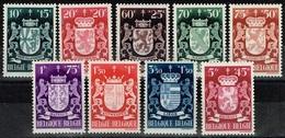 Belgique - 1945 - Y&T N° 716** à 724**, Série Complète. Armoiries Des Provinces - Ongebruikt