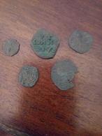 Lotto Di 5 Monete Medievali 4 Di Messina 1 Di Genova Da Classificare - Italy