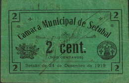 2 CENTAVOS  24 DE DEZEMBRO DE 1919- CÂMARA MUNICIPAL DE SETÚBAL - Portugal