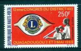 Upper Volta 1969 Lions Club MUH - Upper Volta (1958-1984)