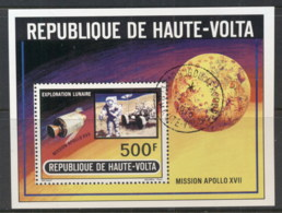 Upper Volta 1973 Apollo 17 Moon Mission MS CTO - Upper Volta (1958-1984)