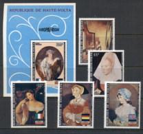 Upper Volta 1973 Europafrica, Paintings + MS MUH - Upper Volta (1958-1984)