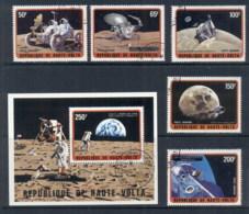 Upper Volta 1973 Moon Exploration + MS CTO - Upper Volta (1958-1984)