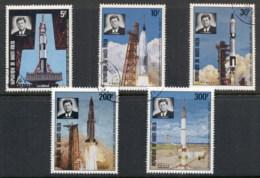 Upper Volta 1973 Saturn 5 Space Rocket, JFK Kennedy CTO - Upper Volta (1958-1984)