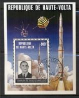 Upper Volta 1974 Charles De Gaulle, Space Rocket MS CTO - Upper Volta (1958-1984)