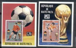 Upper Volta 1974 World Cup Soccer Munich 2xMS CTO - Upper Volta (1958-1984)