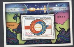 Upper Volta 1975 Apollo Soyuz Space Flight MS CTO - Upper Volta (1958-1984)