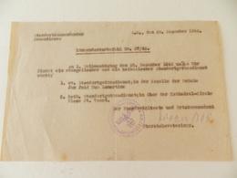 Militaria  - Armentières (59) - 1942  - Document En Allemand  - Cachet De La StandortKpmmandantur  D'Armentières - Documents