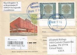 Kazakhstan 2017 Karaganda Armory Registered Domestic Cover - Kazajstán