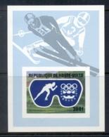 Upper Volta 1975 Winter Olympics Innsbruck IMPERF MS MUH - Upper Volta (1958-1984)