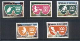 Upper Volta 1975 Winter Olympics Innsbruck IMPERF MUH - Upper Volta (1958-1984)