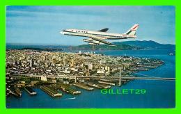 AVIONS - UNITED AIRLINES, DC8 JET OVER SAN FRANCISCO - E. F. CLEMENTS - - 1946-....: Ere Moderne