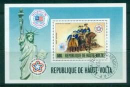 Upper Volta 1976 American Bicentenary INTERPHIL '76 MS CTO - Upper Volta (1958-1984)
