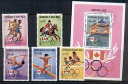 Upper Volta 1976 Summer Olympics Montreal + MS CTO - Upper Volta (1958-1984)