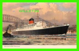SHIP - BATEAUX - CUNARD R. M. L. SAXONIA - - Paquebots
