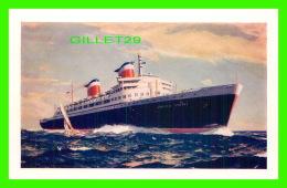 SHIP - BATEAUX - NEW S. S. UNITED STATES - RICKROME - 1952 - - Paquebots