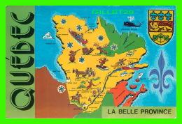 CARTES GÉOGRAPHIQUES - BELLE PROVINCE DE QUÉBEC -  BENJAMIN-MONTRÉAL NEW REG'D - - Cartes Géographiques