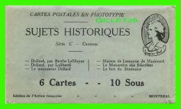 PERSONNAGES HISTORIQUES ENVELOPPES SUJETS HISTORIQUES - DOLLARD, PAR BERTHE LeMOYNE - - Personnages Historiques