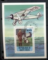 Upper Volta 1977 History Of Aviation MS CTO - Upper Volta (1958-1984)
