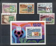 Upper Volta 1977 World Cup Soccer Argentina + MS MUH - Upper Volta (1958-1984)