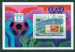 Upper Volta 1977 World Cup Soccer, Argentina MS CTO - Upper Volta (1958-1984)