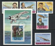 Upper Volta 1978 History Of Aviation + MS CTO - Upper Volta (1958-1984)