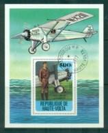 Upper Volta 1978 History Of Aviation, Lindberg MS CTO - Upper Volta (1958-1984)