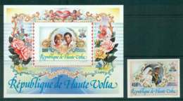 Upper Volta 1981 Charles & Diana Wedding + MS IMPERF MUH Lot45317 - Upper Volta (1958-1984)