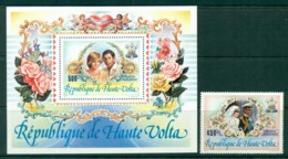 Upper Volta 1981 Charles & Diana Wedding + MS MUH Lot30429 - Upper Volta (1958-1984)