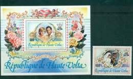 Upper Volta 1981 Charles & Diana Wedding + MS MUH Lot45316 - Upper Volta (1958-1984)