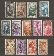 Italie - 1950 - L'Italie Au Travail - Petit Lot De 13° - Métiers - Agriculture - élevage - Pêche - Menuiserie - Poterie - Timbres