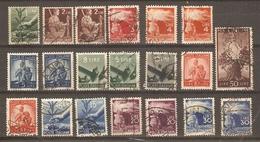 Italie 1945/48 - Symboles Nationaux - Petit Lot De 20 Timbres° Avec Nuances - Olivier - Famille - Flambeau - Italia - Timbres