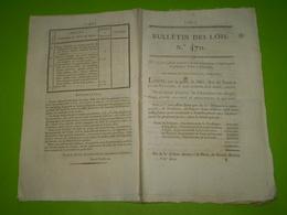 Lois 1821:Achèvement Pont Bergerac,Aiguillon,Agen,Moissac,Coemont,tarifs.Tarif Roche De Glun,Montrejeau,Laval,Souillac - Decrees & Laws