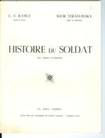 C. F. Ramuz, HIstoire Du Soldat (Libretto. Sans La Musique) Grand Prix 1953 Académie Du Disque . + R. Wangermée - Partitions Musicales Anciennes