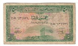 Lebanon 50 Piastres 1948 .J. - Libano