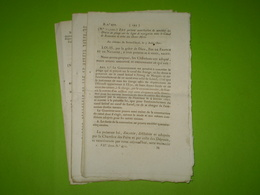 Lois 1821:Droits Entre Canal De Beaucaire & Deux Mers.Tarif Canal De Monsieur.Canal Des Ardennes.Tarif Pont Pinsaguel... - Decrees & Laws